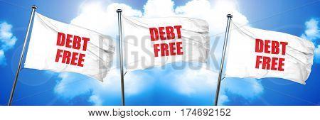 debt free, 3D rendering, triple flags