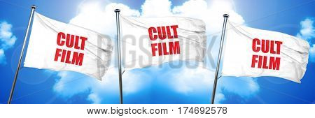 cult film, 3D rendering, triple flags poster