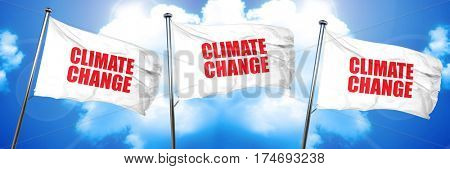 climate change, 3D rendering, triple flags