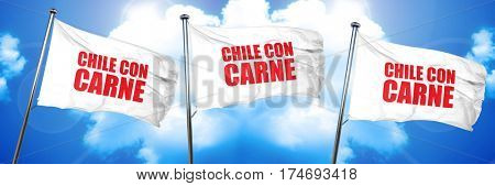 Chile meat, 3D rendering, triple flags