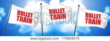 bullet train, 3D rendering, triple flags