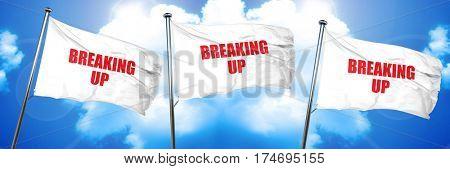 breaking up, 3D rendering, triple flags