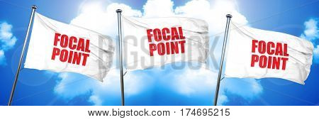 focal point, 3D rendering, triple flags