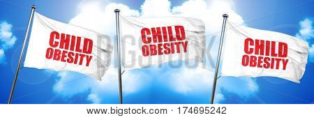 child obesity, 3D rendering, triple flags