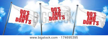 do and dont, 3D rendering, triple flags