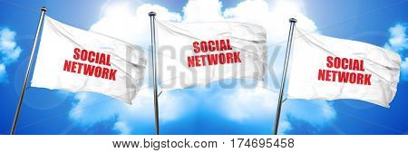 social network, 3D rendering, triple flags