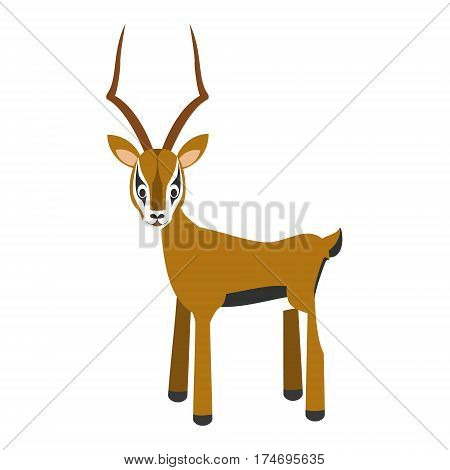 Cute impala in cartoon style vector illustration