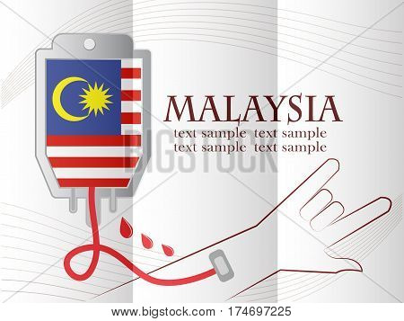 blood donation design made from the flag of Malaysia conceptual vector illustration.