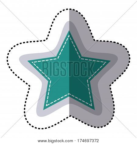 color sticker star shape frame callout dialogue vector illustration