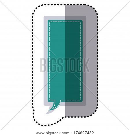 color sticker large rectangle frame callout dialogue vector illustration