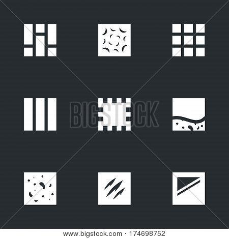 Parquet, concrete, tile, board, mat, self-leveling flooring, granite, steel, glass.