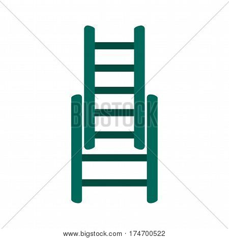 Ladder, fire, firefighter icon vector image. Can also be used for firefighting. Suitable for use on web apps, mobile apps and print media.