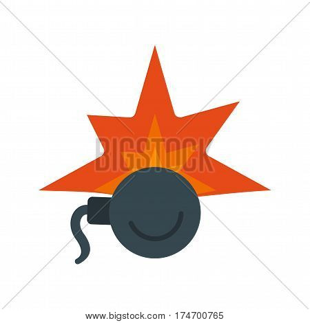 Bomb, time, clock icon vector image. Can also be used for firefighting. Suitable for use on web apps, mobile apps and print media.