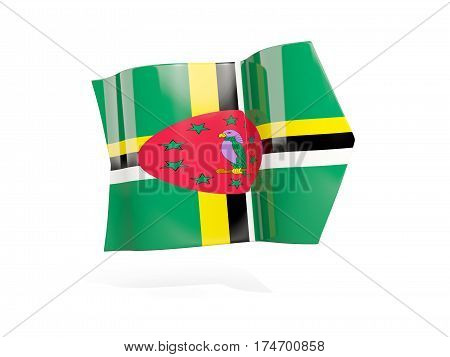 Arrow With Flag Of Dominica
