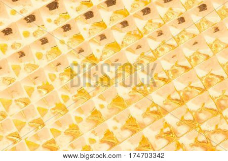 geometric gold light background abstract close up