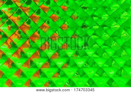 geometric green light background abstract close up