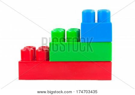 toy cubes on white background. A close up