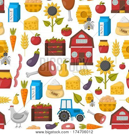 Vector Cartoon Farm Market Background