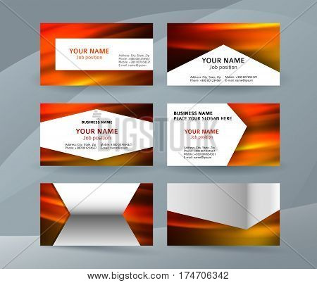 Business Card Layout Template Set25