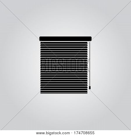 Window linear icon - vector symbo sign icon. Window blinds or jalousie symbol