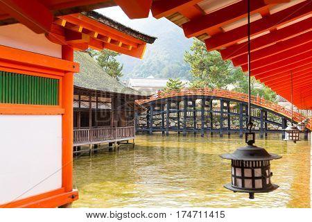 Traditional Itsukushima Shinto Shrine