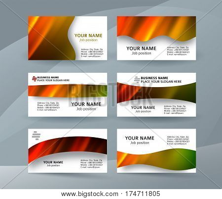 Business Card Layout Template Set30