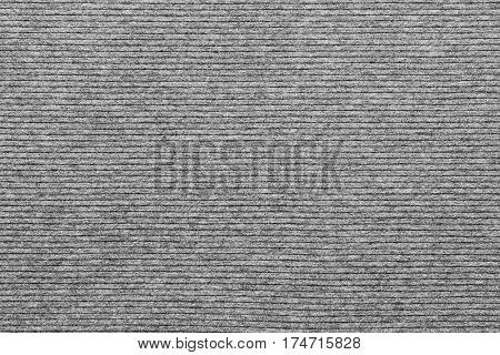 background and texture of knitted striped fabric of pale gray color in big resolution