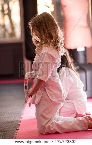 Girl In Kimono; Young Girl In A White Kimono; Karate;