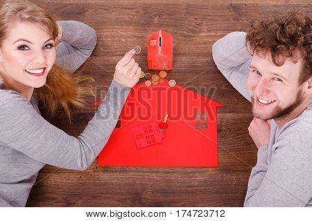 Couple On Floor With Symbols.