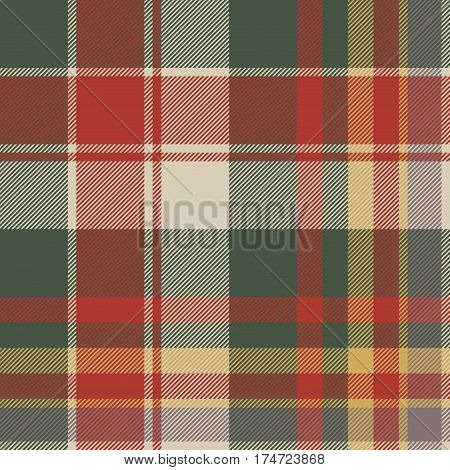 Classic check tartan diagonal seamless fabric texture. Vector illustration.