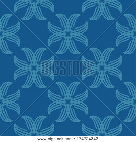 Seamless abstract vintage blue pattern. Vector illustration