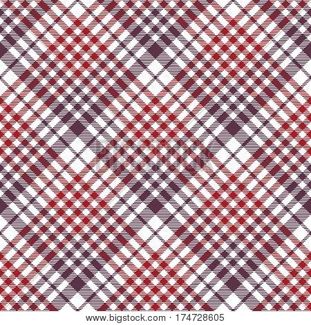 Seamless check fabric texture tablecloth pattern. Vector illustration.