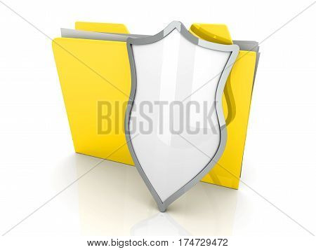 3D illustration of a shielded and guarded Folder.