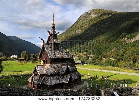 Borgund Stave Wooden Church In Norway