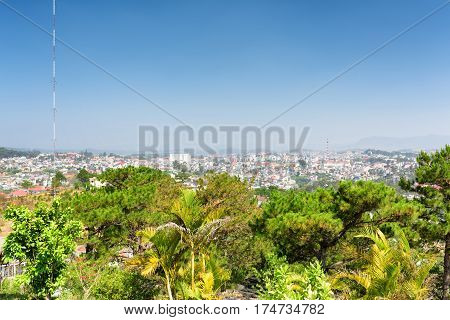 Beautiful View Of The Valley And Da Lat City (dalat) On The Blue