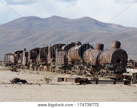 The intriguing Cemetery of Trains in Bolivia's arid southwest