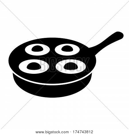 Egg poacher ( shade picture ) on white background