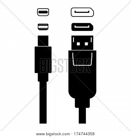 Displayport ( shade picture ) on white background