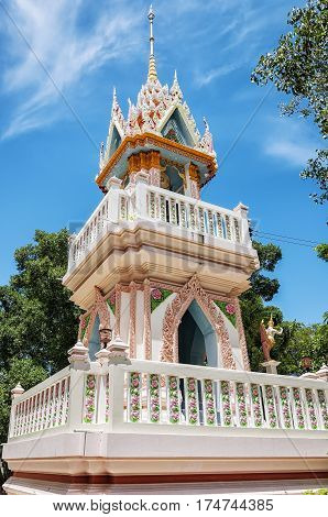 A shrine from the catfish buddhist temple situated in the city of Hua Hin in Thailand.