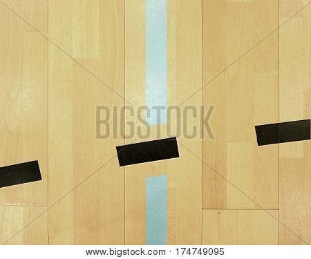 Black Dotted Lines In Hall Playground.  Schooll Gym Hall
