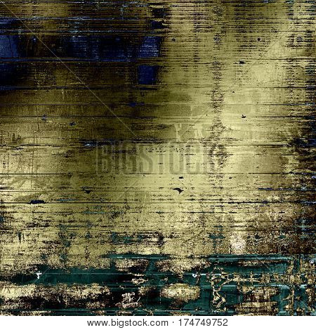 Grunge texture, scratched surface or vintage background. With different color patterns: yellow (beige); brown; gray; blue; cyan; black