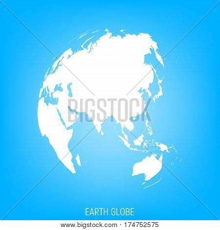 Earth Globe. View on Asia, Australia. World Map