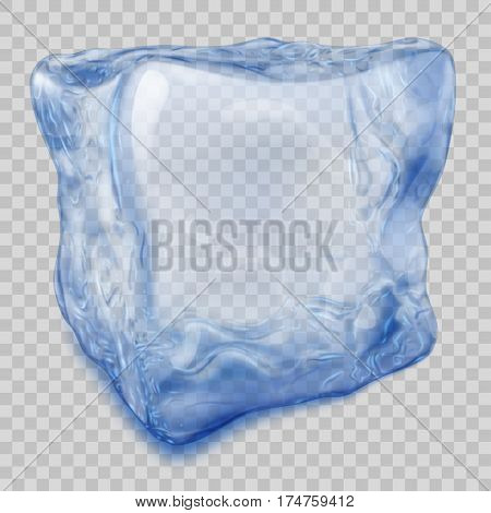 Transparent Blue Ice Cube
