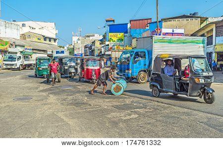 The Street Scenes In Colombo