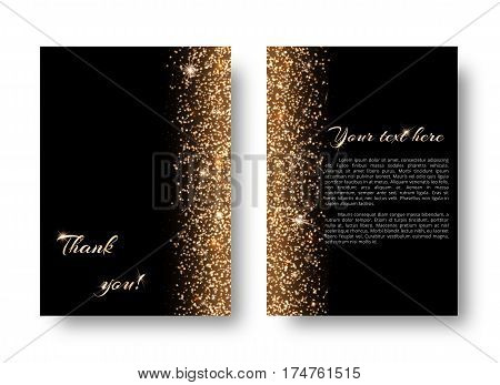 Glimmer background with light flare. New year celebration on a black backdrop.