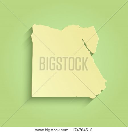 Egypt map green yellow template outline raster