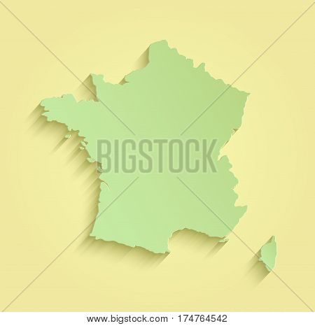 France map yellow green template outline raster