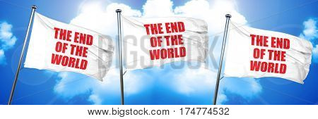 the end of the world, 3D rendering, triple flags