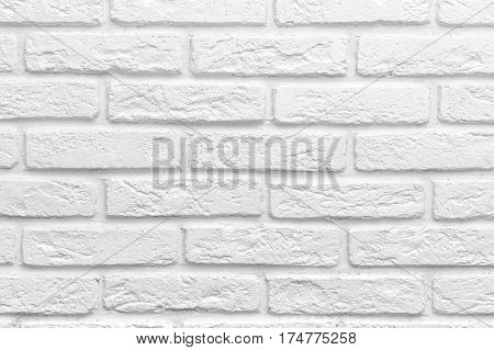 Abstract weathered texture old stucco light gray white brick wall background, grungy blocks of stonework technology color horizontal architecture wallpaper