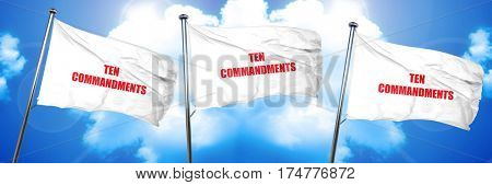 ten commandments, 3D rendering, triple flags
